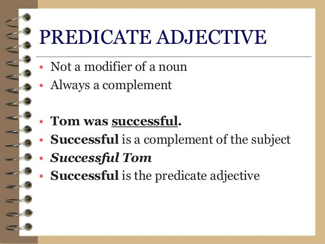Predicate Adjectives Examples  Softschoolscom