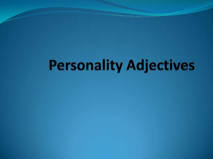 Personality Adjectives<br />