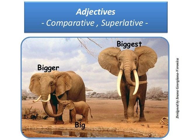 Adjectives - Comparative , Superlative -                     BiggestBigger          Big