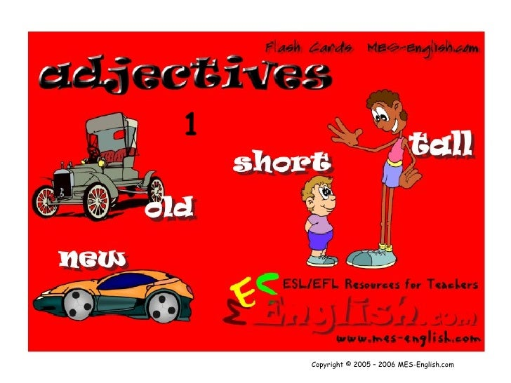 Adjectives1[1] Flashcards Power Point