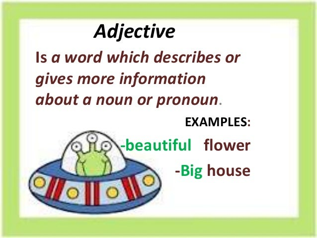 Image result for adjectives examples