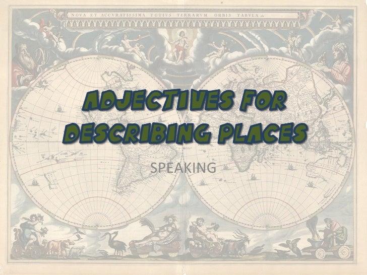 Adjectives for describing places 2