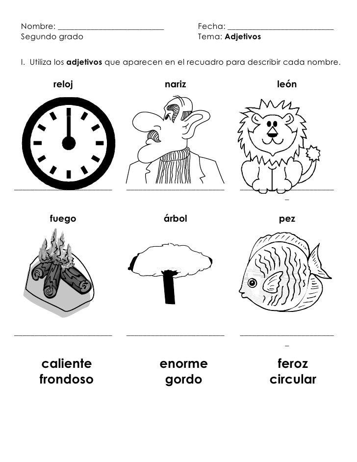 Describir objetos personas y animales