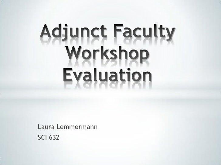 Adjunct faculty workshop evaluation