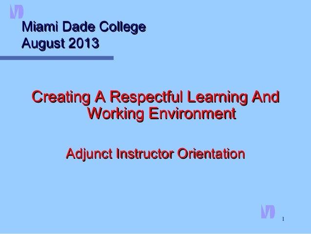 Adjunct Faculty Orientation: HR part 2