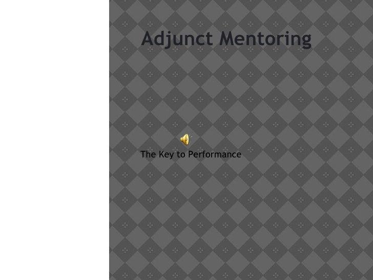 Adjunct mentoring