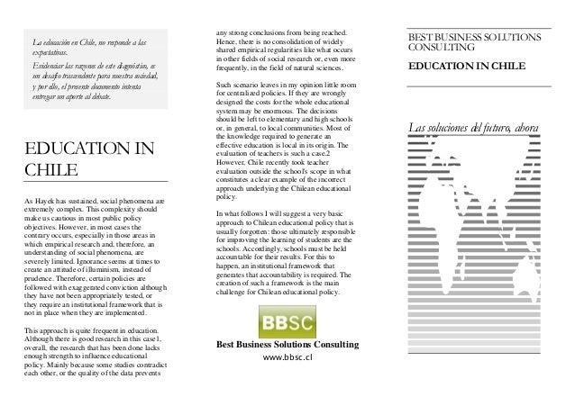 La educación en Chile, no responde a las expectativas. Evidenciar las razones de este diagnóstico, es un desafío trascende...