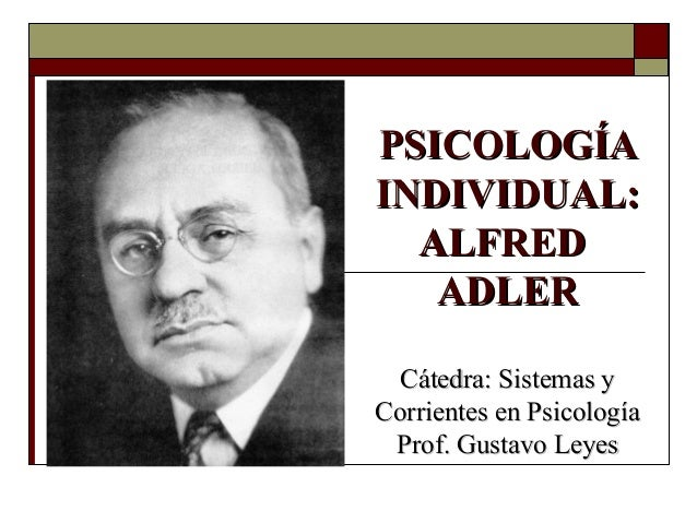 alfred adler Alfred adler biography - alfred adler, the pioneer of individual psychology was born on february 7, 1870 in rudolfsheim located close to vienna he was a medical.