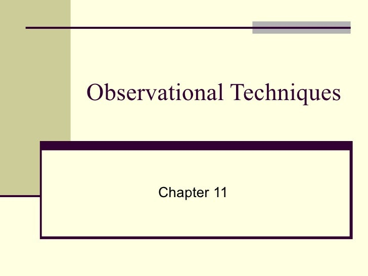 Observational Techniques Chapter 11
