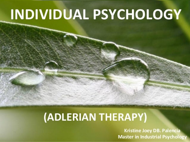 Classical Adlerian psychotherapy