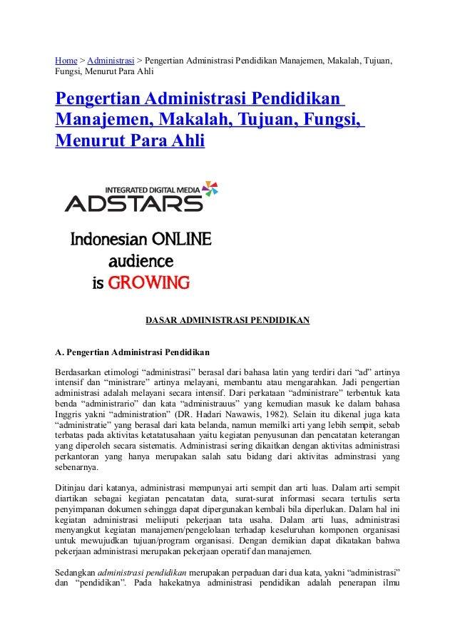 Home > Administrasi > Pengertian Administrasi Pendidikan Manajemen, Makalah, Tujuan,Fungsi, Menurut Para AhliPengertian Ad...