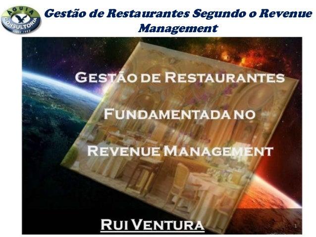 Adm . restaurantes Segundo o Revenue Managemet