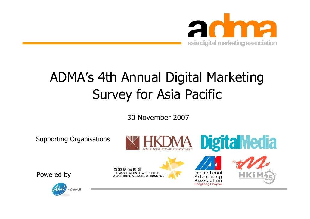 ADMA Digital Marketing Survey 2007