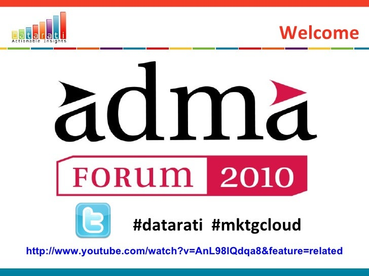 Welcome #datarati  #mktgcloud http://www.youtube.com/watch?v=AnL98lQdqa8&feature=related
