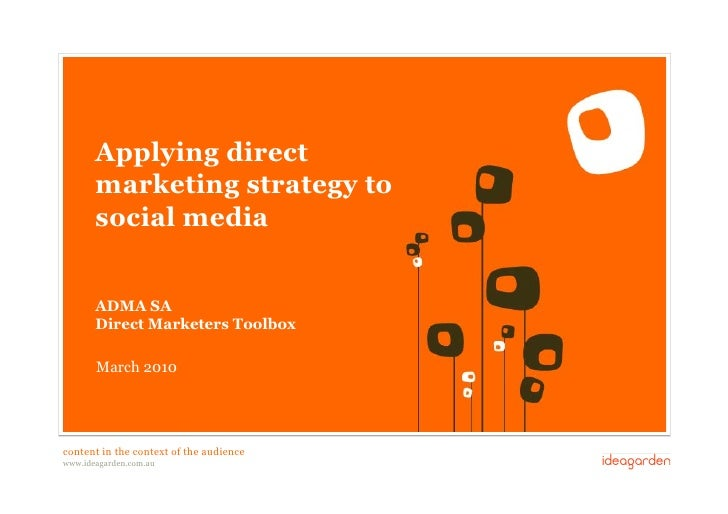 Applying direct             marketing strategy to             social media               ADMA SA             Direct Market...