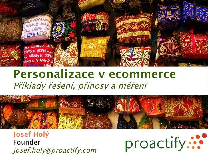 Představení personalizace v ecommerce