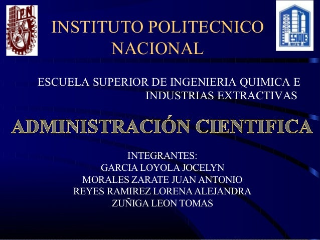 INSTITUTO POLITECNICO        NACIONALESCUELA SUPERIOR DE INGENIERIA QUIMICA E                INDUSTRIAS EXTRACTIVAS       ...