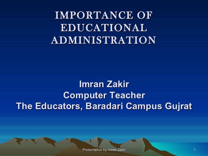 Academic administration
