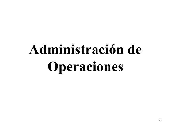 admin de operaciones