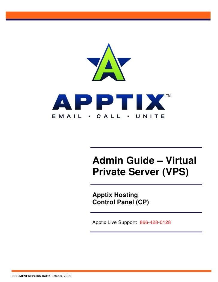 Admin Guide – Virtual                                         Private Server (VPS)                                        ...
