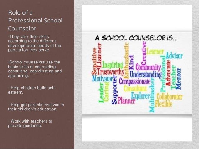 roles of school counselors Get the best of edutopia in your inbox each week in some schools, for example review the asca national model's recommended roles of the school counselor you may discover that the counselor at your school has skills that are underutilized.