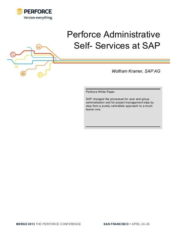 [SAP] Perforce Administrative Self Services at SAP