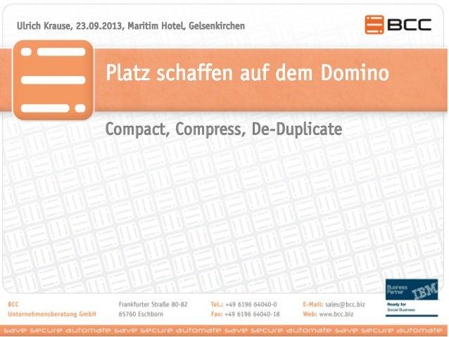 Platz schaffen auf dem Domino Ulrich Krause, 23.09.2013, Maritim Hotel, Gelsenkirchen Compact, Compress, De-Duplicate
