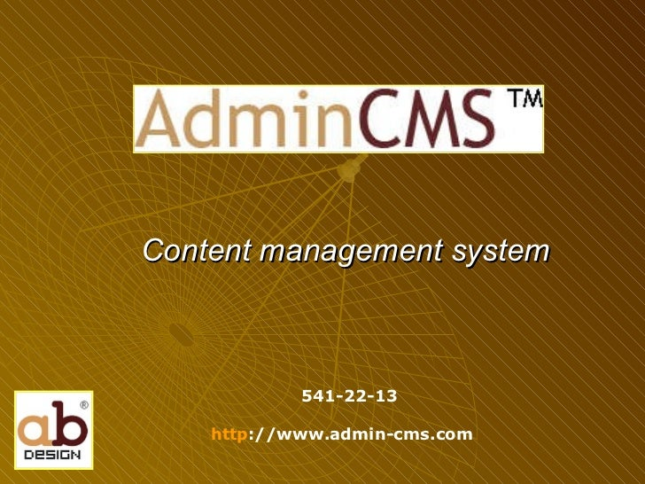 Content management system 541-22-13 http ://www.admin-cms.com
