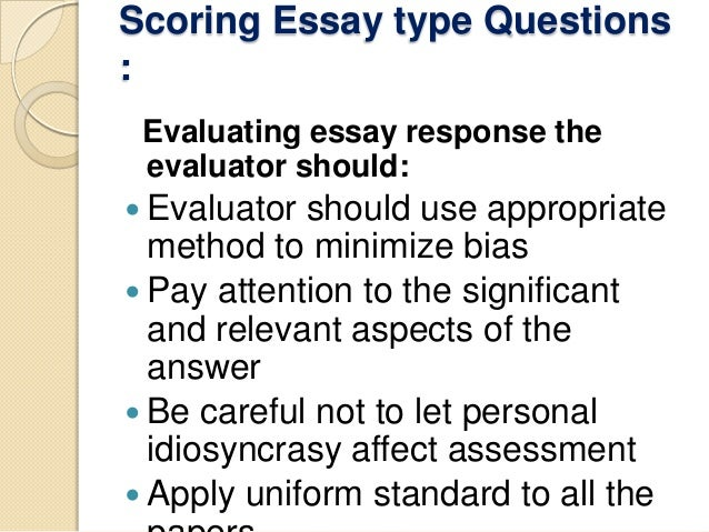 Classification of Essay Test