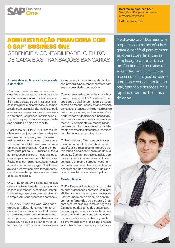 Resumo de produtos SAP                                                                                           Soluções ...
