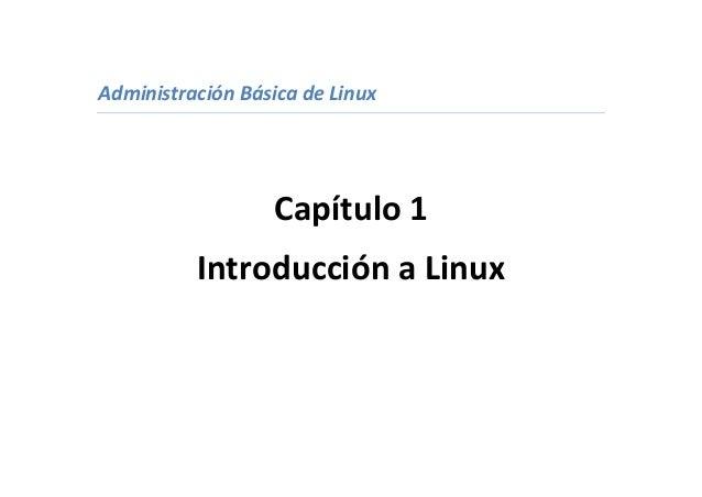 Administración básica de linux