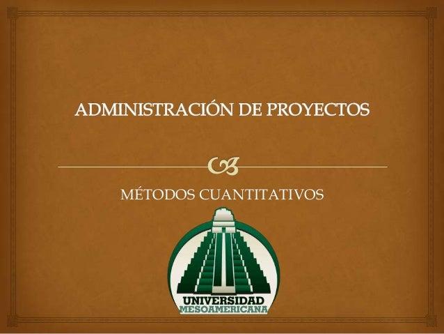 Administración de proyectos (cpm pert)