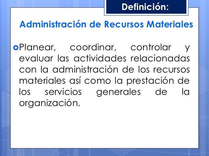 Administraci n de recursos materiales for Origen y definicion de oficina