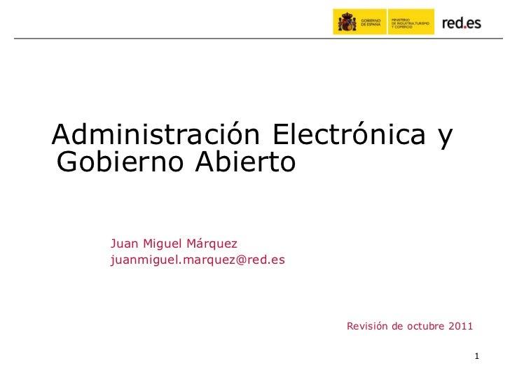 Administración electrónica y gobierno abierto