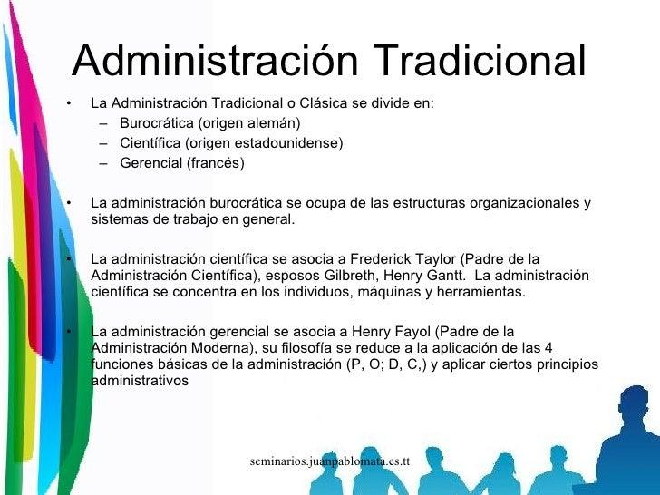 Administraci n moderna semana 5 for Oficina tradicional y moderna