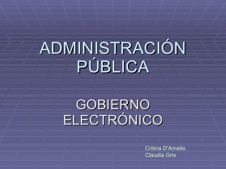 Administración pública power point