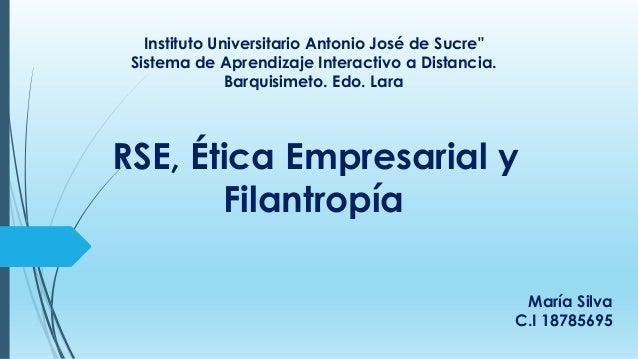 "Instituto Universitario Antonio José de Sucre"" Sistema de Aprendizaje Interactivo a Distancia. Barquisimeto. Edo. Lara RSE..."