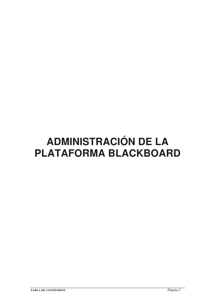 Administracion plataforma-blackboard