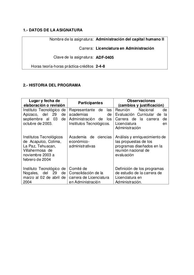 1.- DATOS DE LA ASIGNATURA Nombre de la asignatura: Carrera: Clave de la asignatura: Horas teoría-horas práctica-créditos ...
