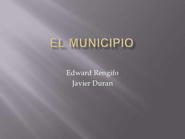 Administracion del estado colombiano el municipio