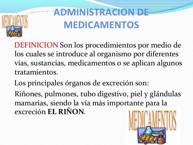 Administracion de medicamentos for Oficina definicion