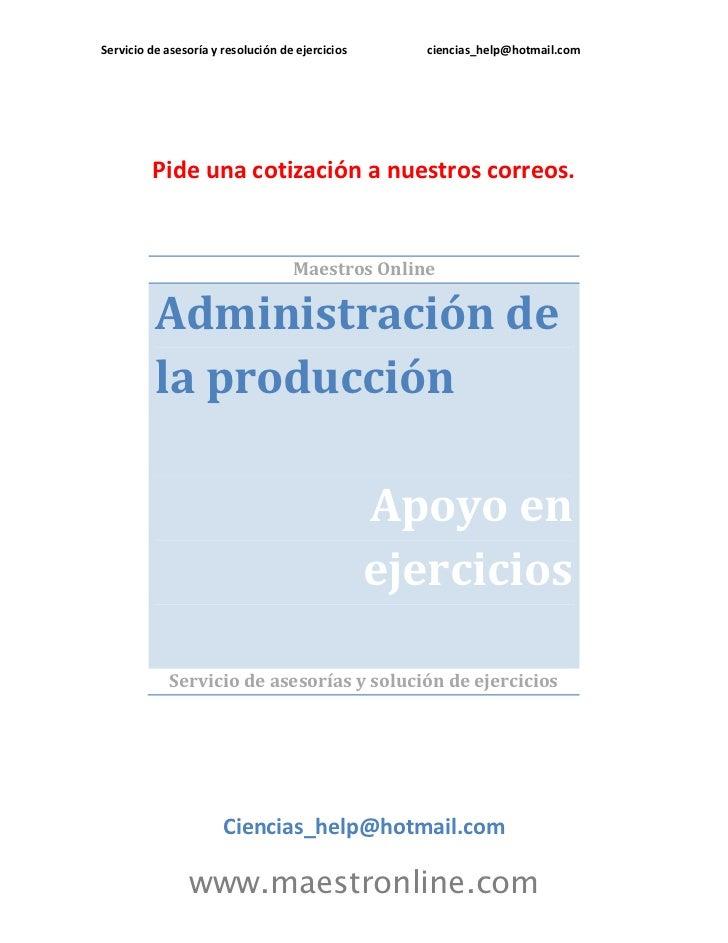 Administracion de produccion