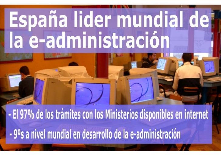 España líder en Administración electrónica