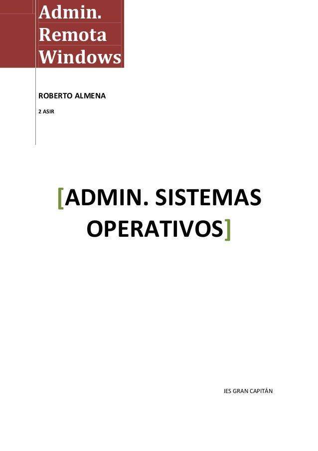 Administracion remota windows