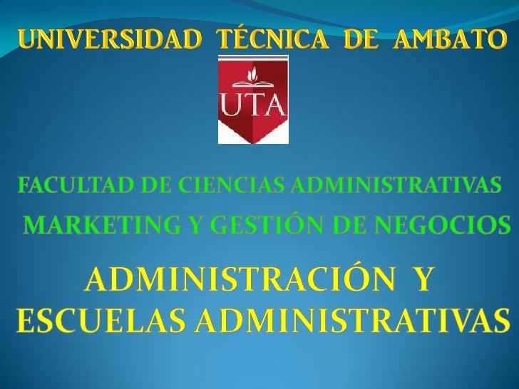 ADMINISTRACIÓN La Administración es la ciencia  social y técnica encargada de la planificación,  organización, dirección ...