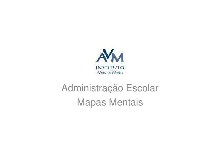 Administração Escolar<br />Mapas Mentais<br />