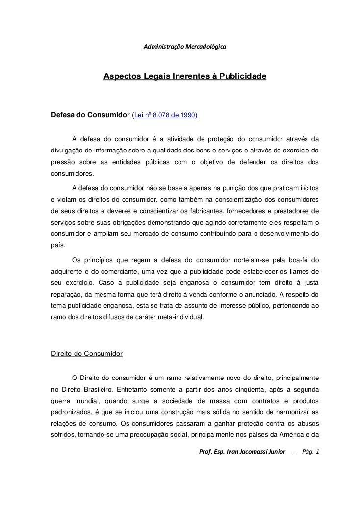 Administração mercadológica   aula 02 - legislação + estudo de caso