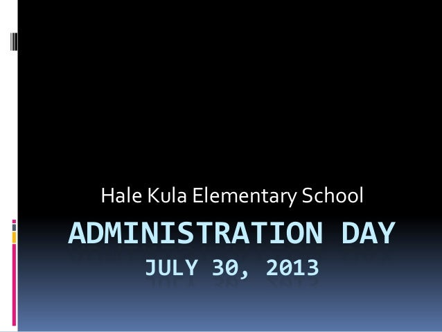 Administration day ppt
