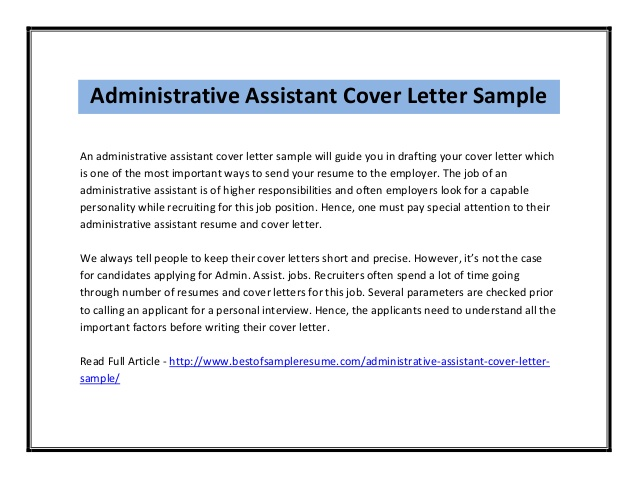 administration job cover letter sample