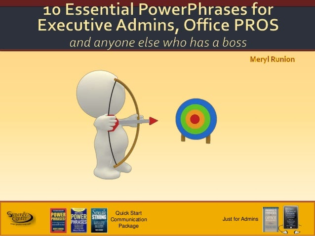 Top Ten Phrases for Administrative Professionals
